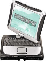 Ноутбук Panasonic Toughbook CF-18 P-M 1100/256/40/WiFi/Tablet XP (CF-18FDAZXVM)