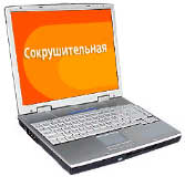 Ноутбук RoverBook Partner E415   VIA C3 1000/256/40/(5400)DVD-CDRW/DOS