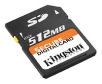 Карта памяти Kingston SecureDigital Card 512 Mb